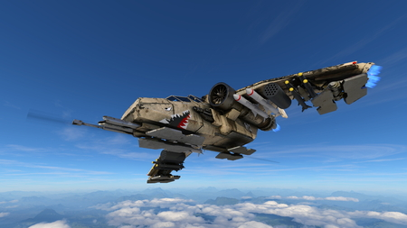 3D CG rendering of fighter aircraft