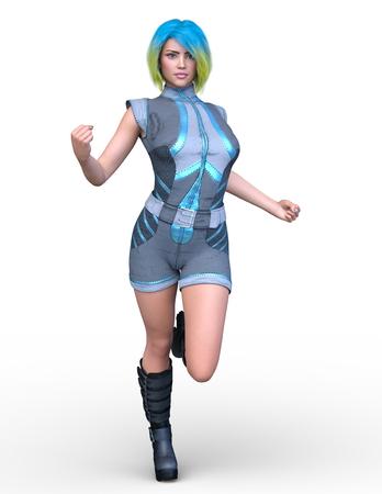 3D CG rendering of cute girl Stock fotó