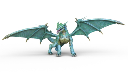 3D CG rendering of doragon