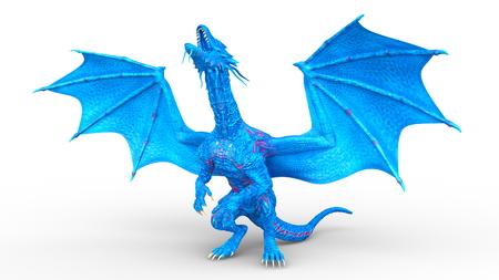 3D CG rendering of dragon