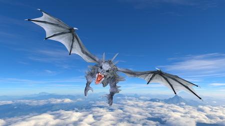 3D CG rendering of doragon