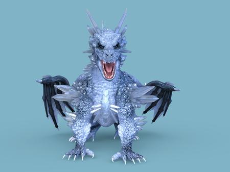 3D CG rendering of Flying Dragon 写真素材 - 108471219