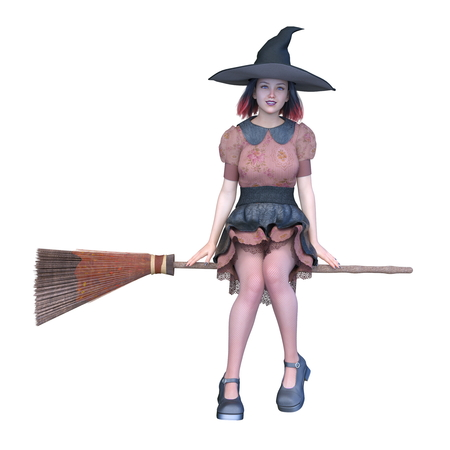 3D CG rendering of witch