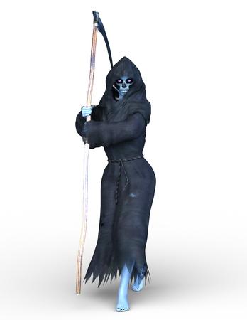 3D CG rendering of death angel 写真素材