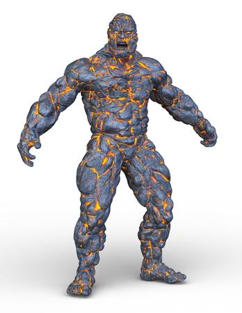 3D CG rendering of Stone man
