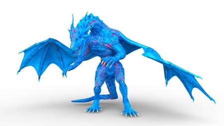 3D CG rendering of Flying Dragon 写真素材