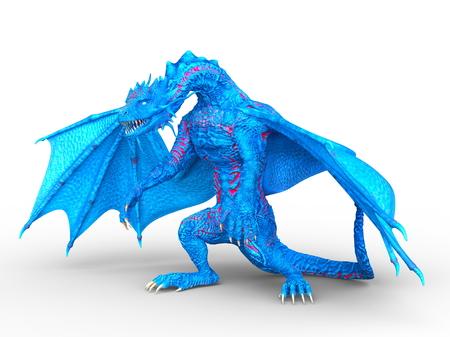 3D CG rendering of Flying Dragon 写真素材 - 110017279