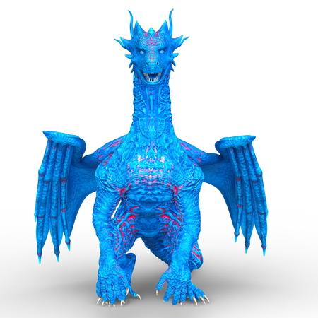 3D CG rendering of Flying Dragon 写真素材 - 110017282