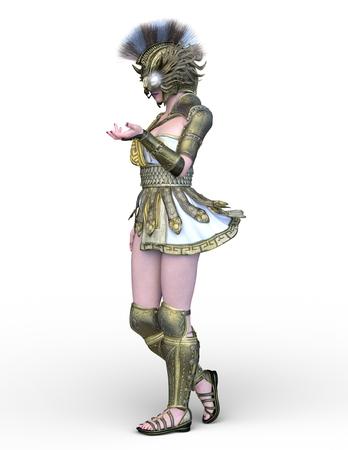 3D CG rendering of Sexy warrior Reklamní fotografie