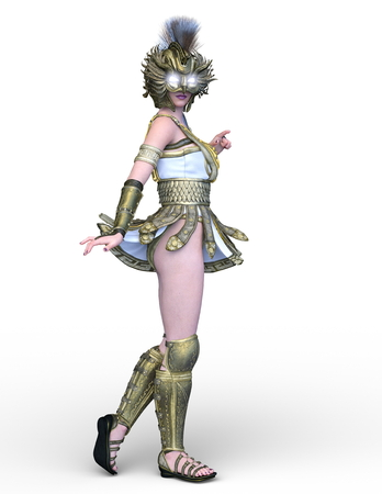 3D CG rendering of Sexy warrior Banco de Imagens