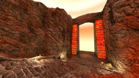 3D CG rendering of ancient ruins Standard-Bild