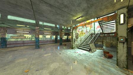 3D CG rendering of Underground facility Stock Photo