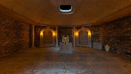 3D CG rendering of ancient ruins Imagens