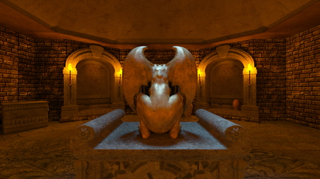 3D CG rendering of ancient ruins Foto de archivo - 111507837