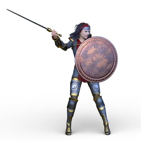 3D CG rendering of Sexy warrior 스톡 콘텐츠