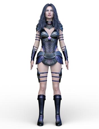 3D CG rendering of Sexy warrior Stock Photo