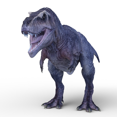3D CG rendering of Dinosaurs Stock Photo
