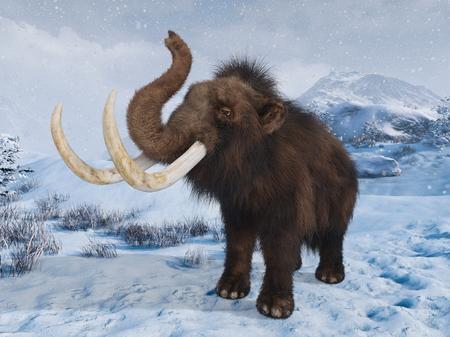 3D CG rendering of Mammoth