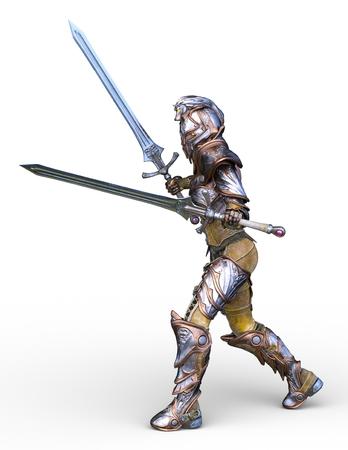 3D CG rendering of warrior