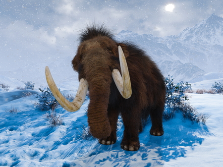 3D CG rendering of Mammoth