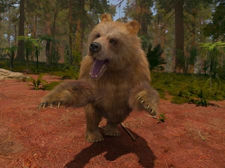 3D CG rendering of Bear
