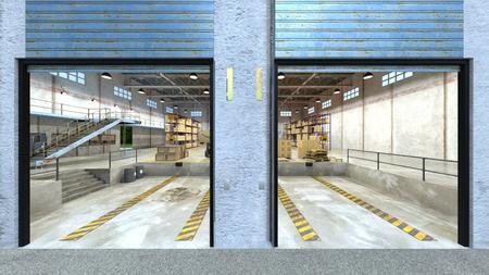 3D CG rendering of Warehouse