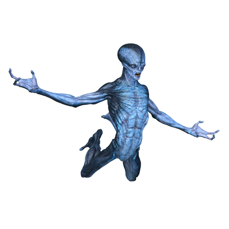 3D CG rendering of alien