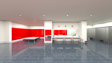 3D CG rendering of residence Stock Photo