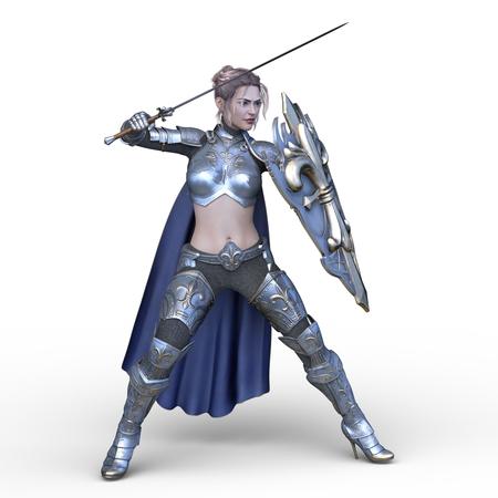 3D CG rendering of Sexy warrior