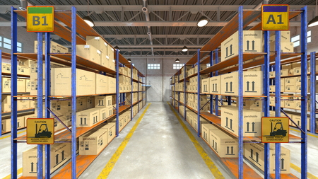 3D CG rendering of Warehouse