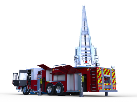3D CG rendering of Fire engine