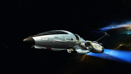 3D CG rendering of space ship