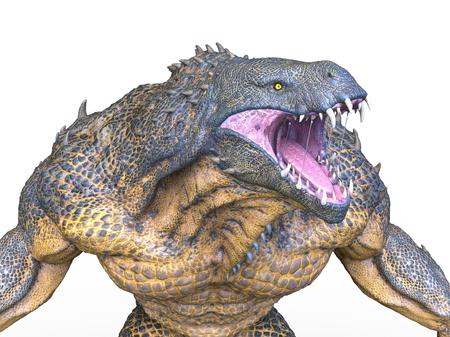 3D CG rendering of monster Banco de Imagens