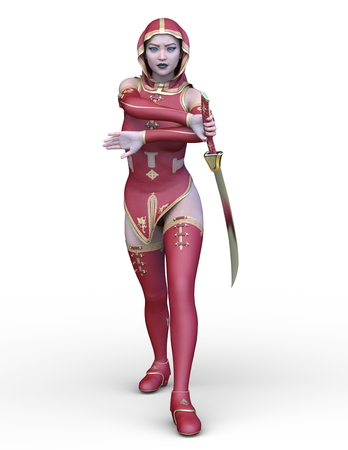 3D CG rendering of Fight Sister