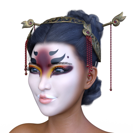 3D CG rendering of asia face make Stock Photo - 115435232