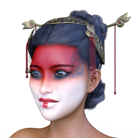 3D CG rendering of asia face make Stock Photo - 115435239