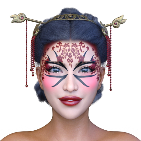 3D CG rendering of asia face make Stock Photo - 115435235