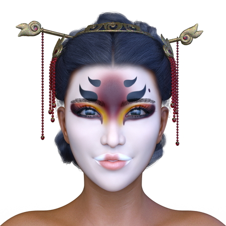 3D CG rendering of asia face make Stock Photo - 115435237