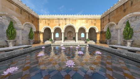 3D CG rendering of garden Reklamní fotografie
