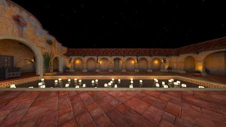 3D CG rendering of garden Imagens