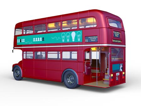3D CG rendering of double decker