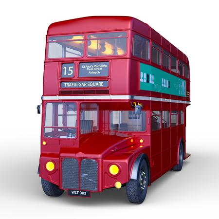 3D-CG-Rendering von Doppeldecker