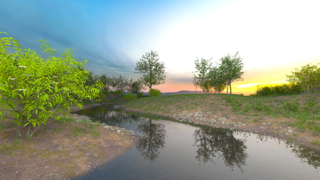 3D CG rendering of superb view