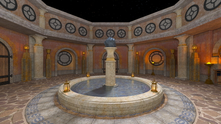 3D CG rendering of residence Imagens