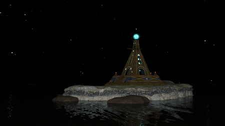 3D CG rendering of Lighthouse