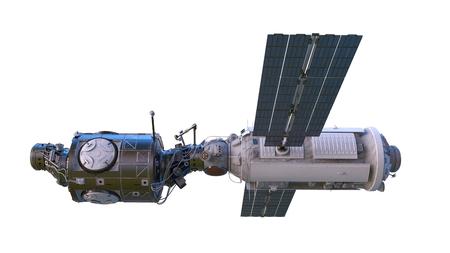 3D CG rendering of Space satellite