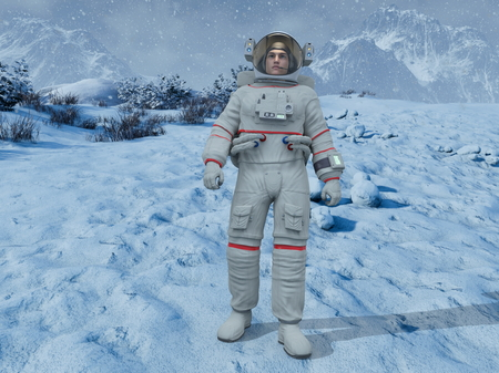 3D CG rendering of astronaut