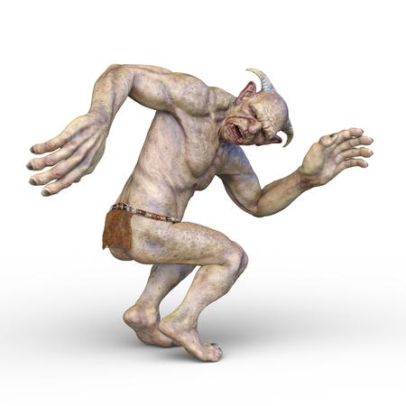 3D CG rendering of dwarf