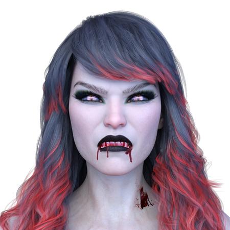 3D CG rendering of Bloodless girl Stok Fotoğraf