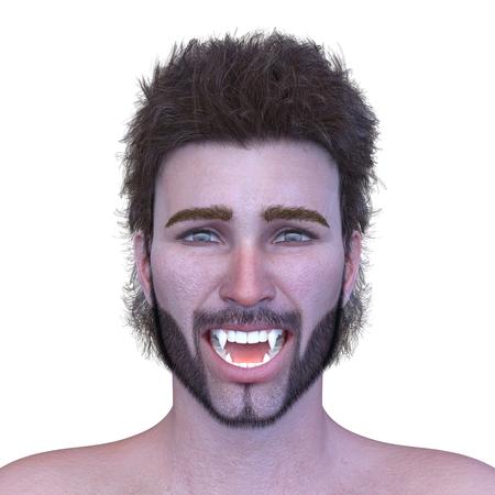 3D CG rendering of Man's face Stockfoto